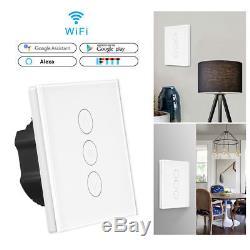 Commutateur D'éclairage Intelligent Wifi Touch Panel Gradateur Controllo Remoto Alexa & Google Accueil