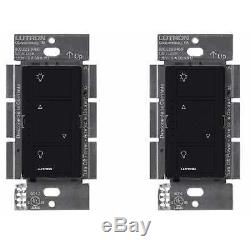 Commutateur D'éclairage Sans Fil Smart Lighting De Lutron Caseta (paquet De 2) (noir)
