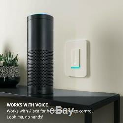 Commutateur D'éclairage Wifi Wemo Dimmer (f7c059), Paquet Avec Alexa & Google Assistant
