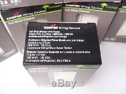 Commutateur De 10 Feux Cooper Câblage Si10p-la Dimmer Slide Sp / 3way 1000w Incandescent