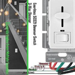 Commutateur De Gradateur De Mur De Glisseur De Décorateur Bouton Blanc De 3 Manières + Indicateur De Couverture De Led