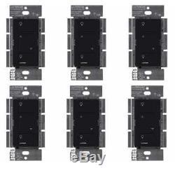 Commutateur Gradateur D'éclairage Intelligent Sans Fil De Lutron Caseta (paquet De 6) (noir)