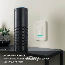 Commutateur Wemo Dimmer Wi-fi, Fonctionne Avec Amazon Alexa Nouveau