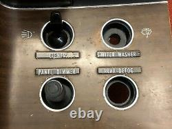 Cuda Challenger Rally Dash Switch Panel Arrière Décongeler Nice Woodgrain Light Dimmer