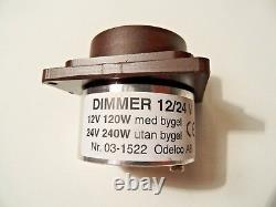 Defa 701329 Life Boat Lumière Dimmer Dimming Commutateur 12 / 24v 120 / 240w Brown 03-1519