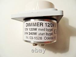 Defa 701330 Life Boat Lumière Dimmer Dimming Commutateur 12 / 24v 120 / 240w Blanc 03-1526