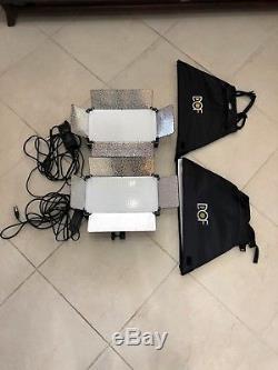Deux Panneau De La Lumière Du Studio 500 Led Plus Léger Avec Le Commutateur De Gradateur A Mené L'éclairage Visuel