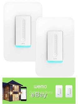 Ensemble De 2 Interrupteurs Wi-fi Wemo Dimmer Fonctionne Avec Alexa Et Google Assistant Home