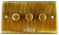 G & H Acier, Chrome, Laiton, Bronze 1 2 3 4 Gradateurs De Lumière V-pro Led