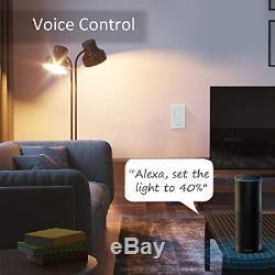 Gosund Intelligent Gradateur, Smart Wifi Light Switch Fonctionne Avec Alexa Et Google