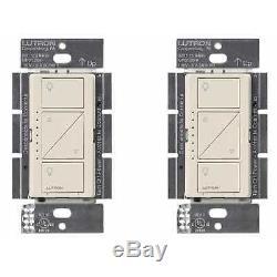 Gradateur D'éclairage Intelligent Lutron Caseta Wireless (pack De 2) (amande Pâle)