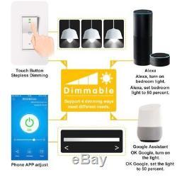 Gradateur De Lumière Blanc Intelligent Us À 1 Voie, Fonctionne Avec Amazon Alexa Google
