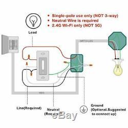Gradateur Intelligent, Commutateur Treatlife Wifi Pour Éclairage À Del / Halogène / Incandescent