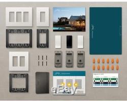 Gradateur Intelligent De Kit D'éclairage Avec 1 Chambre Directeur 2 Commutateurs D'extension De Plaques Murales