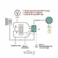Gradateur Intelligent, Interrupteur De Lumière Treatlife Wifi Pour Gradable Led / Halogène / Inc.