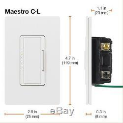 Gradateur Maestro Adapté Aux Ampoules À Incandescence À Halogène À Del De Dimmable, Paquet De 6
