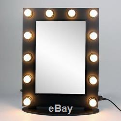 Grand Miroir De Maquillage De Style D'hollywood De Lumière De Vanité Avec Le Commutateur D'alimentation De Gradateur Allumez / Éteignez