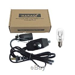 Haraqi Sel De L'himalaya Lampe Cordon Et Ampoule Avec Gradateur, Remplacement D'origine