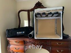 Havox Hpb-40xd Photo Studio Light Box Avec 4 Barres Led & Interrupteur De Gradateur, 16x16x16