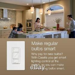 Interrupteur D'éclairage Intelligent Sans Fil Lutron Caseta, Kit De Démarrage Pico, Câblé, Blanc