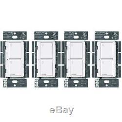 Interrupteur D'éclairage Intelligent Sans Fil Lutron Caseta (blanc) (paquet De 4)