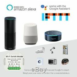 Interrupteur De Commande Sans Fil Blanc Télécommande Smart Wifi Dimmer Module 90-250v 150w