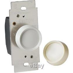 Interrupteur De Gradateur Rotatif Unipolaire Almond 600w 30 Pk C36-06681-0tw