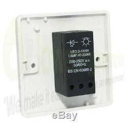 Interrupteur Simple De Gradateur De Led Pour L'obscurcissement Allumant Le Blanc 3w À 250w 240v