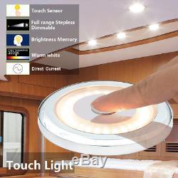 Interrupteur Variateur De Plafond Pour Plafonniers Rv 12v Led 3w 2800k, Lampe Étanche Blanche, Blanche