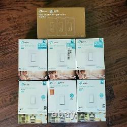 Jeu De 9 Tp-link Intelligent Wifi Kasa Lumière Commutateurs Pôle Dimmer & Single White