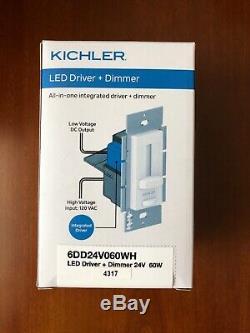 Kichler Interrupteur De Gradateur À Led Driver 24 Volts 60 Watt 6dd24v060wh 24v 60w Nouveau