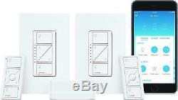 Kit De Démarrage Pour Commutateur D'éclairage Intelligent Sans Fil À 2 Variateurs Avec Commande Vocale Apple Home