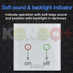 Konoq + Interrupteur Del Tactile À Panneau De Verre De Luxe Avec Dimmer À Distance, Noir
