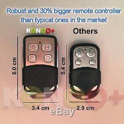 Konoq + Interrupteur Tactile Led De Panneau De Verre De Luxe Wifi Dimmer, Noir, 3gang / 1way