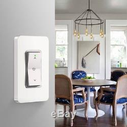 L'interrupteur Intelligent De Lumière De Gradateur De Wifi Fonctionne Avec La Commande Vocale D'android Ios D'alexa Google