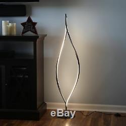 Lampadaire De Salon Moderne À Led Noire Avec Variateur De Lumière Permanent