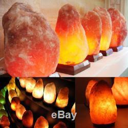 Lampe À Sel De L'himalaya, Cristal Naturel, Forme De La Roche, Variateur De Lumière Nocturne 1-15 KG