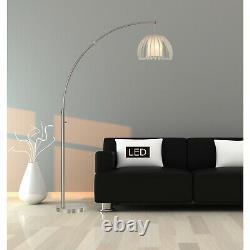 Lampe De Plancher À Un Arc Moderne Acier Brossé Fini Avec Led Dimmer Light Switch