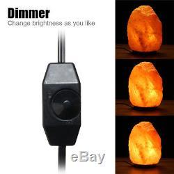 Lampe De Sel De L'himalaya Naturel Cristal Forme Rock Gradateur Interrupteur De Nuit 1-15 KG