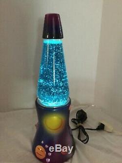 Lampe En Céramique Lava Galactic Les Planètes Glitter Mouvement Table Lumineuse Gradateur