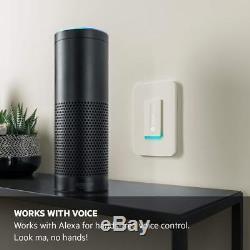 Le Commutateur D'éclairage Wifi Wemo Dimmer Fonctionne Avec Alexa Et Le Pack De 2 Google Asst (f7c059)