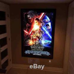 Led Light Up Movie Poster Frame Boîte À Lumière Gradateur Et Télécommande 27x40