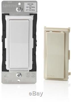Leviton Decora Smart Avec Interrupteur Z-wave 15 Ampères, Blanc / Amande Pâle
