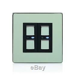Lightwaverf Interrupteur Variateur De Lumière Principal Jsjslw420c, 2 Voies, 250 W, Chrome