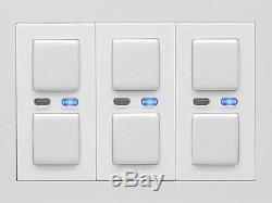 Lightwaverf Interrupteur Variateur De Lumière Principal Jsjslw430wh 3 Voies, 210 W, Blanc