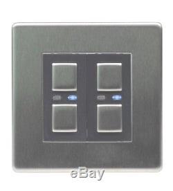 Lightwaverf Jsjslw420ss 2g 1way 250w Gradateur De Lumière Principal Commutateur En Acier Inoxydable