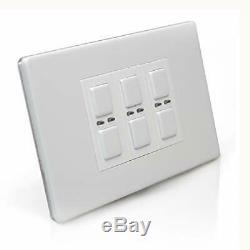 Lightwaverf Jsjslw430wh 3 Gang 1 Way 210 W Light Master Interrupteur Variateur Blanc