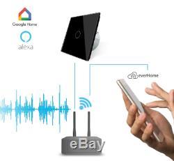 Livolo Smarthome Touch Rc Interrupteur Variateur Verre Alexa Sprachsteuer Noir