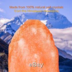 Lot 10 Himalaya Salt Lamp Naturel Cristal Rock Dimmer Interrupteur Lumière De Nuit Us Oy