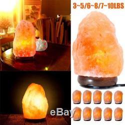 Lot 10 Himalaya Salt Lamp Naturel Cristal Rock Variateur Interrupteur Night Light Us Bb